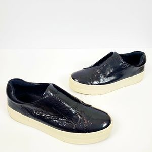 J/SLIDES NYC Heidi Patent Leather Slip On Sneakers